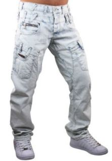 Cipo & Baxx Jeans Hose Bleached C 831 hellblau: Bekleidung
