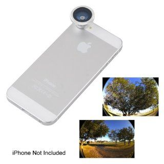 Ebest Silver 180 Degree Wide Angle Super Fisheye Lens for iPhone 5 5G