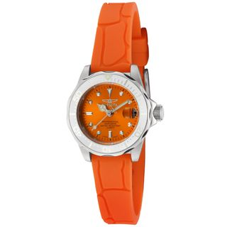 Invicta Womens Pro Diver/Mini Diver Orange Polyurethane Watch