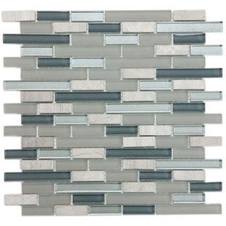 ICL H 123 Blue / Grey Glass Marble Mix (Case of 11)
