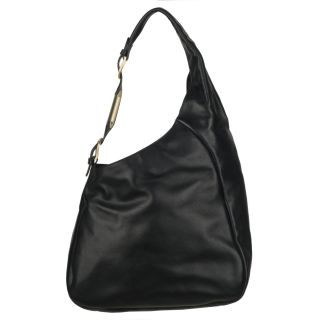 Jimmy Choo Black Medium Embellished Strap Hobo