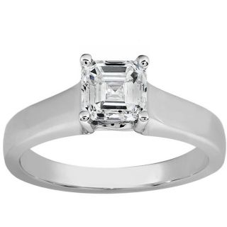 18k White Gold 1ct TDW Diamond Solitaire Ring (H I, SI1)