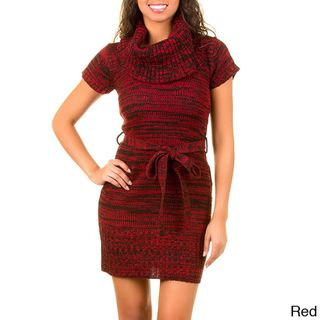 Stanzino Womens Cowl Neck Sweater Dress