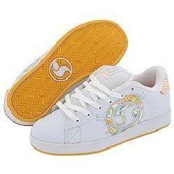 DVS Shoe Company Revival Splat W White/Orange Leather
