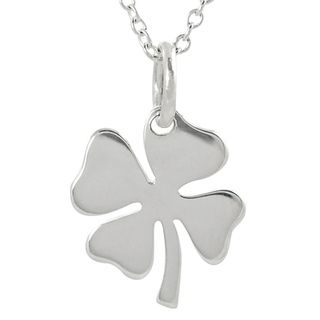 Tressa Sterling Silver Four Leaf Clover Necklace