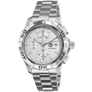 Tag Heuer Mens Aquaracer Silver Dial Stainless Steel Watch