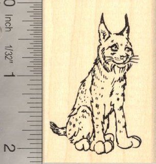 Lynx Rubber Stamp Bobcat Wildcat Wildlife Arts, Crafts