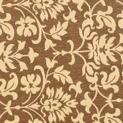 Chocolate/ Cream Indoor Outdoor Rug (67 Round)