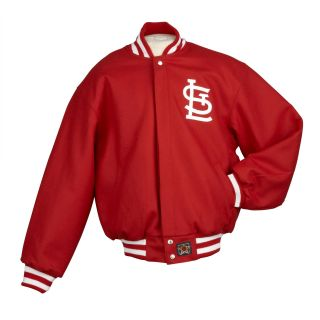 JH Designs Mens St. Louis Cardinals Domestic Wool Jacket