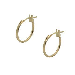 10k Yellow Gold Basic Hoop Earrings