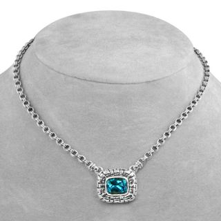 Scott Kay Sterling Silver Blue Topaz Necklace