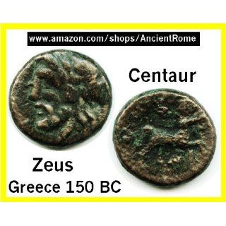 150 BC. CENTAUR   MAN HEADED HORSE. OWL. ZEUS. Ancient