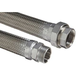 Flexible Hose Assembly, 3/4 Stainless Steel 304 Hex NPT Male x 150