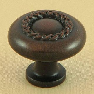 Stone Mill Oil Bronze Rope Cabinet Hardware Knob (Pack of 10