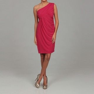 Ellen Tracy Womens Roseberry One Shoulder Drape Dress