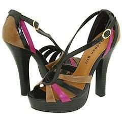 Madden Girl Enclosed Black Multi Sandals
