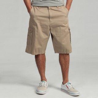 Burnside Mens Light Khaki Cargo Shorts