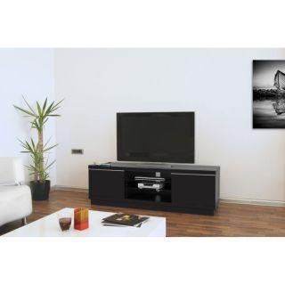 HARMONY Meuble TV 160cm laqué Noir   Achat / Vente MEUBLE TV   HI FI
