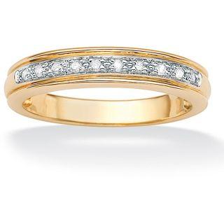 10k Yellow Gold 1/10ct TDW Diamond Anniversary Ring (H I, I2 I3