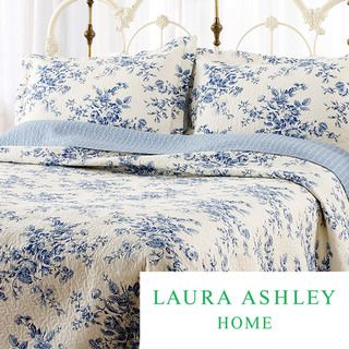 Laura Ashley Collette 3 piece Quilt Set