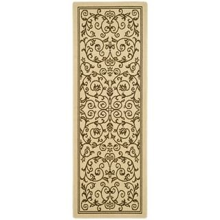 Safavieh Natural/ Brown Indoor Outdoor Rug (22 x 12)