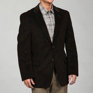 Adolfo Mens Brown Corduroy Sport Coat