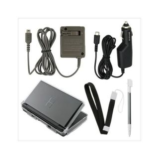 Car, Travel Charger, Stylus, and Case for Nintendo DS Lite