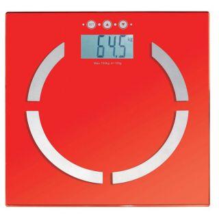 Pèse personne électronique rouge DOM254R   Achat / Vente PÈSE