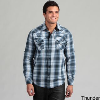 Modern Culture Mens Plaid Shirt