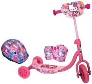 Arpeje OHKY07 Hello Kitty Roller mit 3 Rädern + Helm + 2 Schützer
