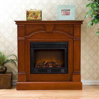 Macon Classic Mahogany Electric Fireplace