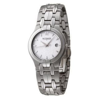 Wittnauer Mens Astor Stainless Steel Quartz Date Watch