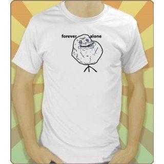 Internet Meme T Shirt: Forever Alone (Weiß) Größe L: