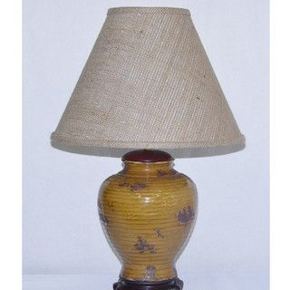 Aged Honey Porcelain Table Lamp