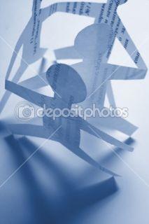 Paper chain holding hands  Stock Photo © Dzianis Miraniuk #1766216