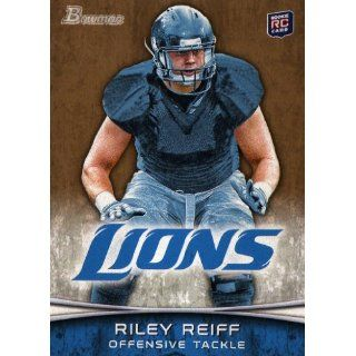 2012 Bowman Gold #154 Riley Reiff Rc. Collectibles