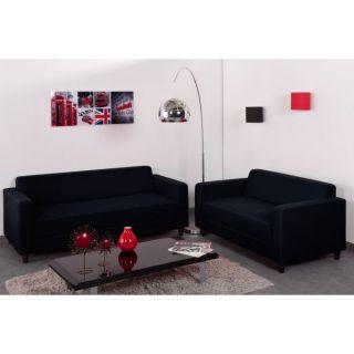 FIRR Ensemble de salon Noir en tissu   Achat / Vente CANAPE FIRR