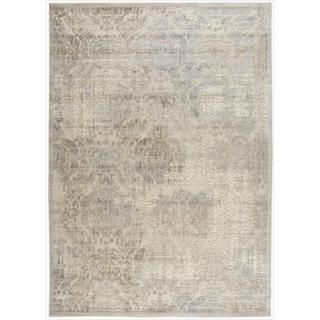 Graphic Illusions Beige Antique Damask Pattern Rug (53 x 75
