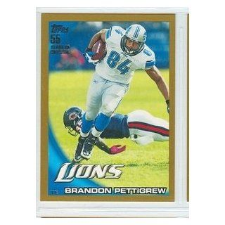 2010 Topps Football Gold 145 Brandon Pettigrew Lions