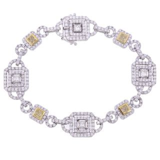 14k Two tone Gold 5 1/4ct TDW Diamond Bracelet (G H)
