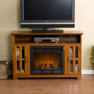 Reeves Mission Oak Elecric Fireplace