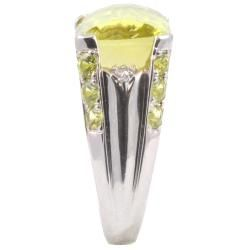Michael Valitutti 14k Gold Oro Verde, Chrysoberyl and Diamond Ring