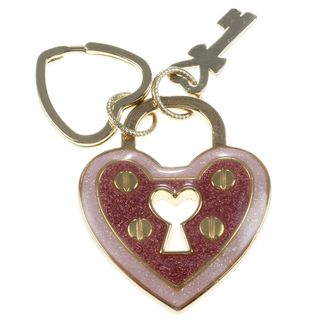 Betsey Johnson Pink Key with Heart Key Chain