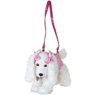 Poochie & Co. Plush Butterfly Poodle Dog Purse WHITE/MULTI