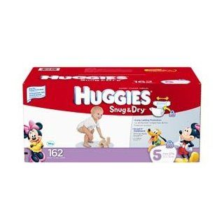 Huggies Snug & Dry Diapers Size 5; 162 Ct Everything Else