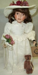 Boyds Bears Porcelain Doll Emilee with Otis Forever #4808