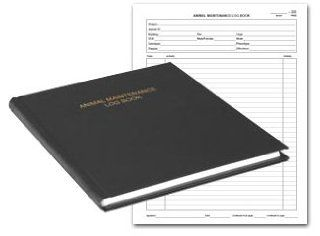 BookFactory® Animal Maintenance Log Book   168 Pages