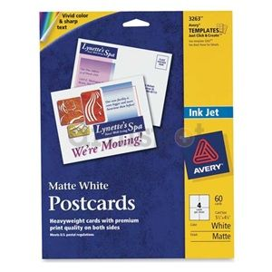 Avery 3263 Personal Creation White Inkjet Postcards