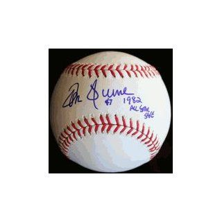 Autographed Tom Hume Baseball   1982 All Star Game Save