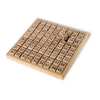 Table de calcul en bois pour apprendre les multiplications de façon